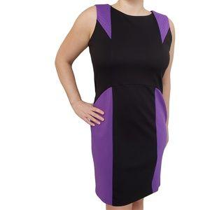 JESSICA Black & Purple Sleeveless Unlined 14